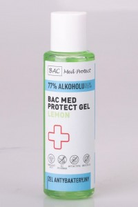 BAC MED PROTECT GEL LEMON  100ml  Żel do dezynfekcji rąk